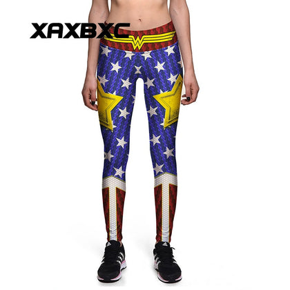 439c48642fdb1 Sexy Girl Old Glory The Avengers Wonder Woman Star 3D Prints High Waist  Workout Fitness Women s Leggings Pants (E-PACKET SHIP 20 TO 25 DAYS)