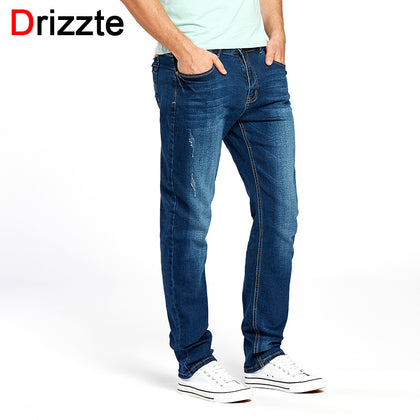 39eec743881 Drizzte Blue Jeans Men s Fashion Casual Stretch Denim Jean for Men Male  Trousers Pants (E-PACKET SHIP 15 TO 25 DAYS)