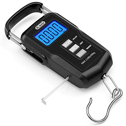 Dr.meter [Upgraded] FS01 Fishing Scale, 110lb/50kg Digital Hanging Scale