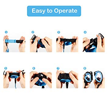 Upgrade Key Lock Anti Lost Wrist Link, Dr.Meter Toddler Child Safety Wrist Leash-Dr.meter