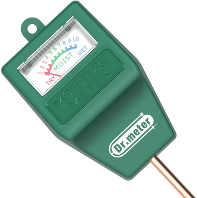 Dr.meter Soil Moisture Meter, S10 Hygrometer Moisture Sensor for Garden, Farm, Lawn Plants Indoor & Outdoor(No Battery needed)