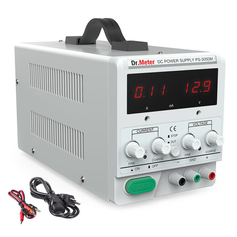 Dr.meter 30V/5A DC Bench Power Supply Single-Output 110V/220V-Dr.meter