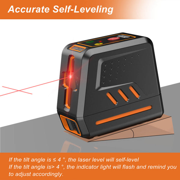 Line Laser Level, 50ft Self Leveling Laser, Drmeter