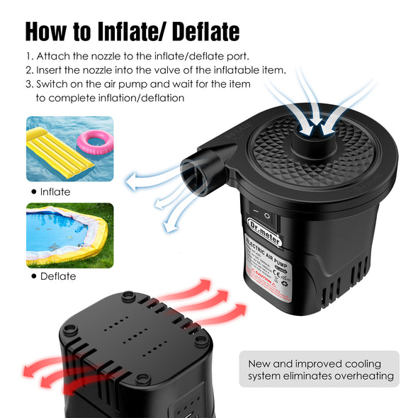 Dr.meter Rechargeable Air Pump-Dr.meter