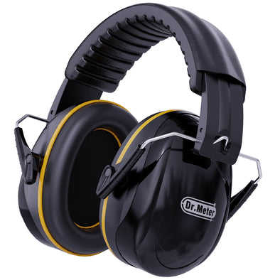 Adult Hearing Protection Ear Muffs, Black, Dr.meter