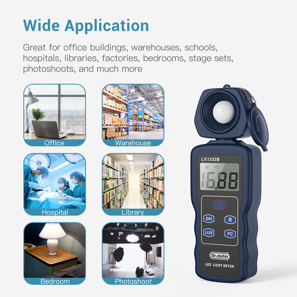 Digital LED Light Meter, LX1332B,Dr.meter