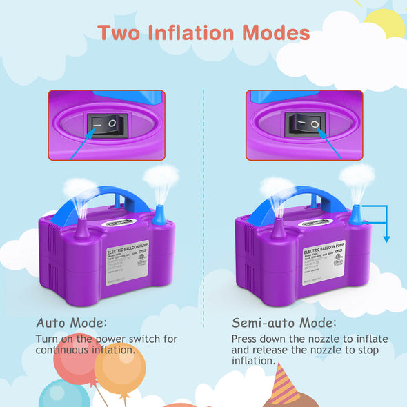 Air Balloon Pump, Purple, Dr.meter