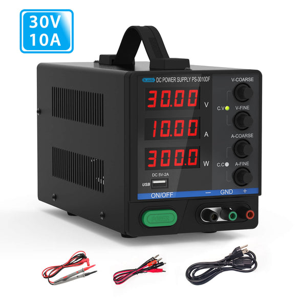 DC Bench Power Supply,  30V/10A, Dr.meter