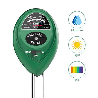 Dr.meter Upgrade Soil Moisture Meter Sunlight PH Acidity 3-in-1 Soil Tester Kit-Dr.meter