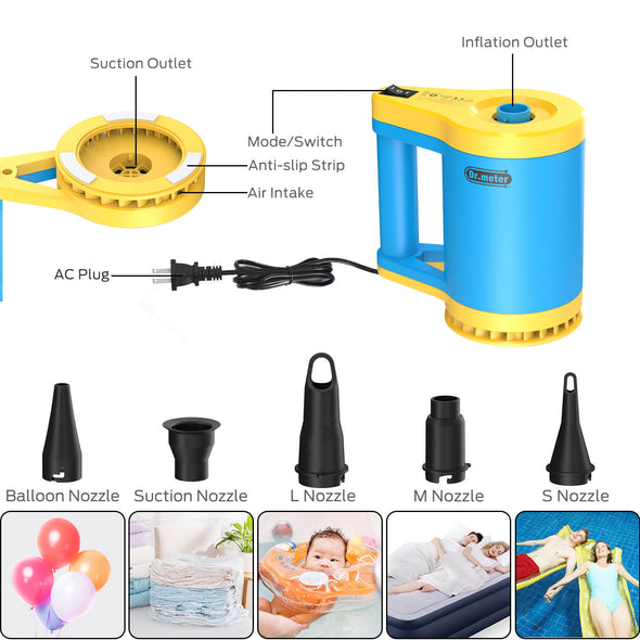 Electric Air Pump, 110V 350W 1000L/Min, Dr.meter