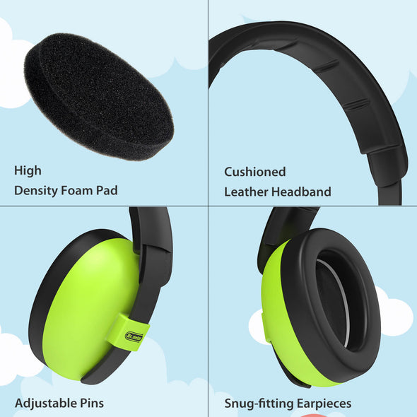 Baby Noise Cancelling Headphones, Green(0-3 Years)