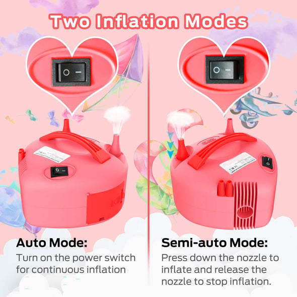 Electric Balloon Pump, Pink, Dr.meter