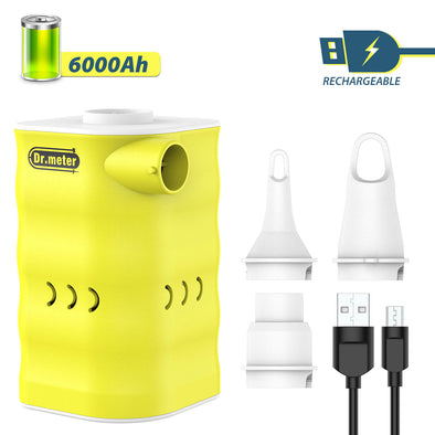 Rechargeable Air Pump, 6000mah/ 3-Nozzle, Dr.meter