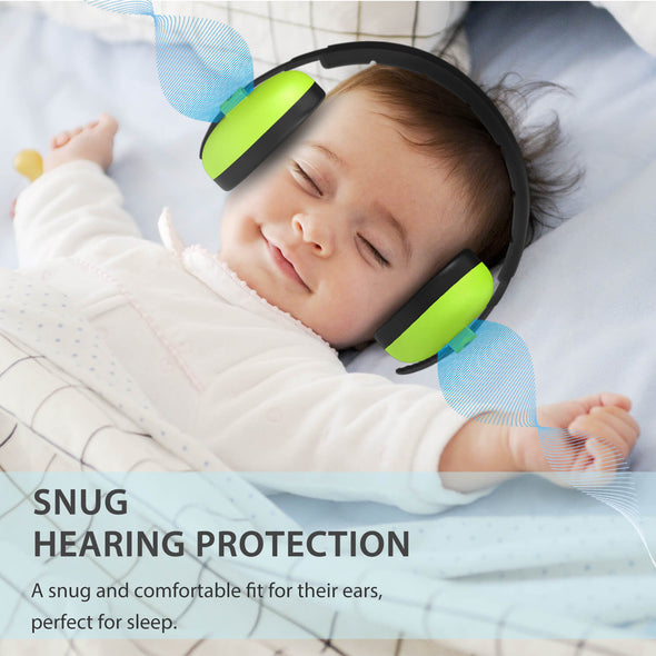 Baby Noise Cancelling Headphones, Green, Dr.meter