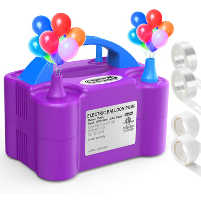 electircal air balloon pump purple