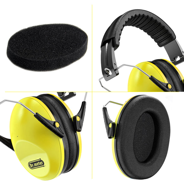 Kids Noise-canceling Headphones, Yellow, Dr.meter