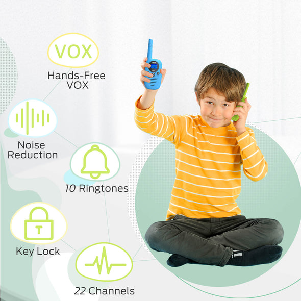2 Pack Walkie Talkies for Kids, Dr.meter