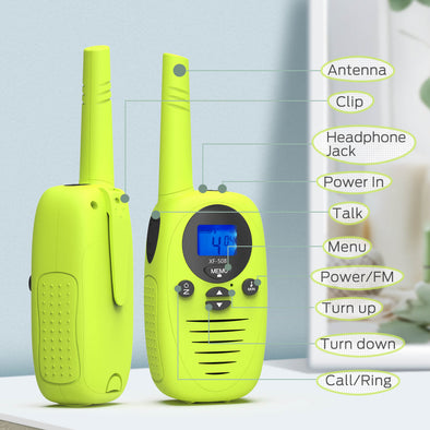 Walkie Talkies for kids, 3 Pack, Dr.meter