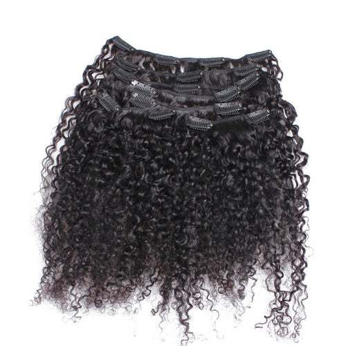 3C/4A Kinky Curly Clip-Ins