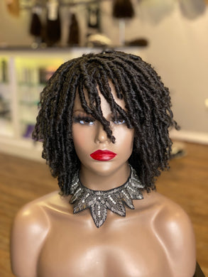 Synthetic Natural Coil Wig (1b)