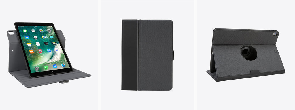 An iPad Pro Cover, the VersaVu Signature Series Case in black