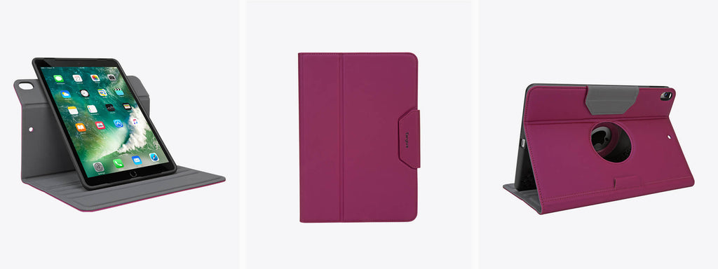 A purple Ipad Pro Cover, the VersaVu Classic Case in purple