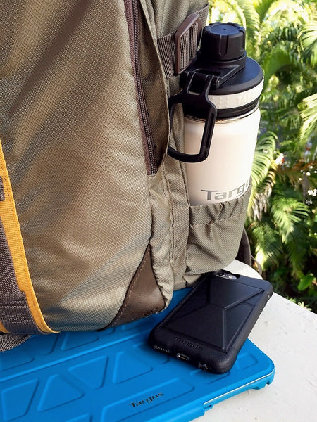 iPad case, iPhone, and Targus Backpack