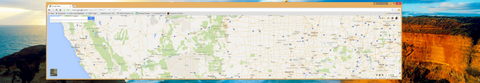 Stretched Google Maps