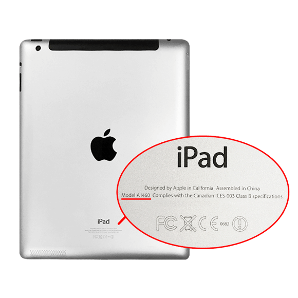 Image result for a model number on ipad rear case close up