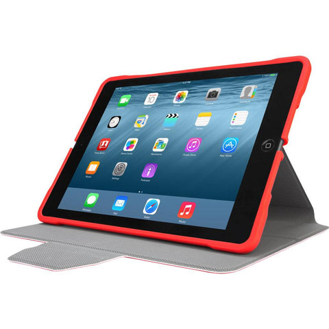 Red 3D Protection Case for iPad® (2018/2017) (THZ63503GL) - In Use Landscape Viewing Left hidden