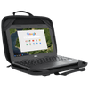 "Essentials 11.6"" Chromebook Work-in Case (Black/Grey) - In Use Right Angle"