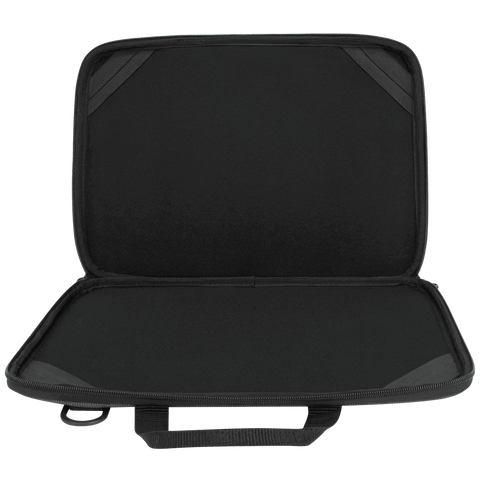 "Essentials 13-14"" Chromebook Work-in Case (Black/Grey) - Open Inside"
