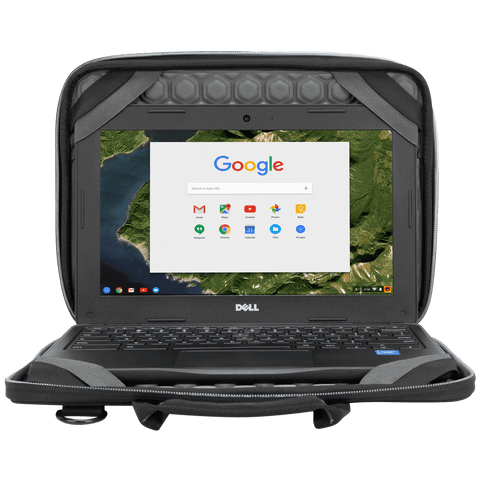 "Plus 11.6"" Chromebook Work-in Case (Black/Grey) - In Use with Chromebook"