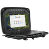 "Plus 11.6"" Chromebook Work-in Case (Black/Grey) - In Use Right Angle"