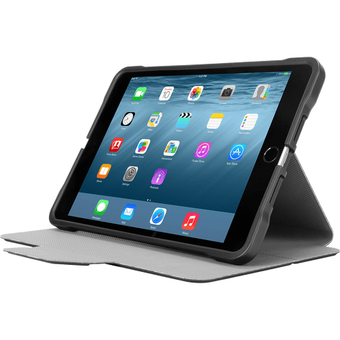 Black 3D Protection Case for iPad mini® (THZ595GL) - In Use Landscape Viewing Left