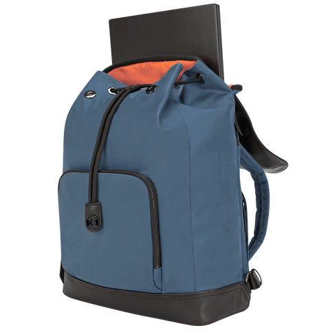 "15"" Newport Drawstring Backpack (Slate Blue) hidden"