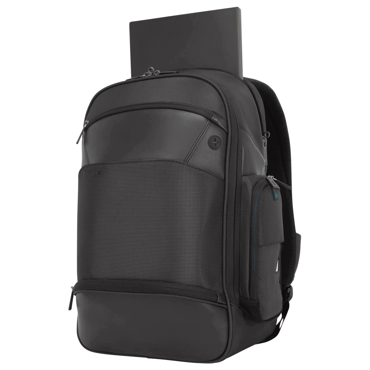 """c39a5829064793 ... 15.6"""" Mobile ViP+ Backpack with Wireless Phone Charger (TSB970GL) - In  Use with"""