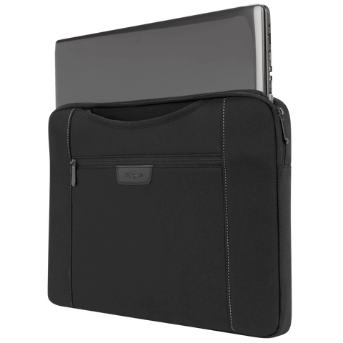 "Slipskin 15.6"" Laptop Sleeve with Hideaway Handles (Black) - with laptop"