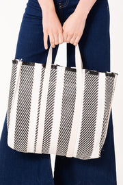 Striped Linen Shopper Bag