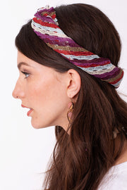 Multi Color Striped Mesh Triangular Bandana