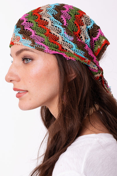 Multi Color Fish Scale Mesh Triangular Bandana