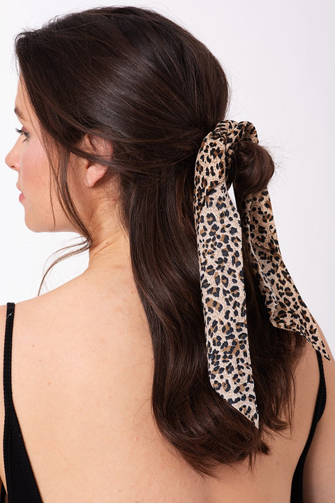 Multi Color Leopard Print Ponytail scrunchy