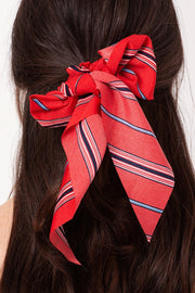 Multi Color Striped Ponytail Scrunchy