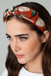 Floral Print Ribbon Headband