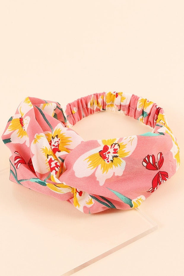 Floral Print Twisted Chunky Head Wrap 1