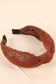 Crochet Knotted Head Band