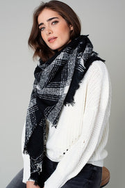 Plaid Print Blanket Scarf