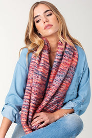 Multi Yarn Knotted Infinity Scarf