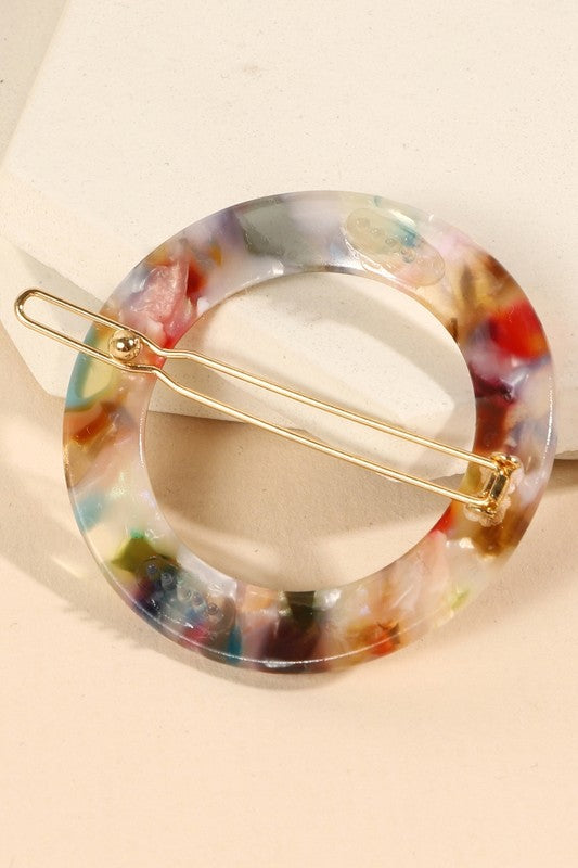 Round Cut Out Acetate Hair Pin