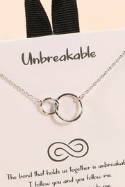 Unbreakable Double Circle Necklace